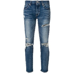 Moussy distressed skinny jeans - ブルー