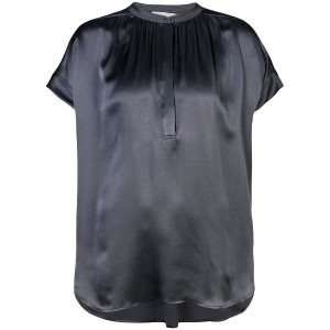 Vince pleated front blouse - グレー