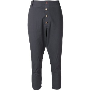 Kristensen Du Nord dropped crotch cropped jodphur trousers - グレー