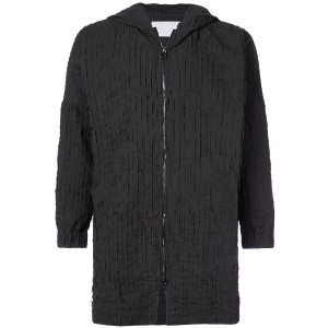 Private Stock raw stripe hooded jacket - ブラック