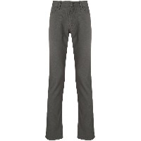 Emporio Armani classic flat front trousers - グレー