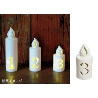 NUMBER LED LIGHT CANDLE 「3」