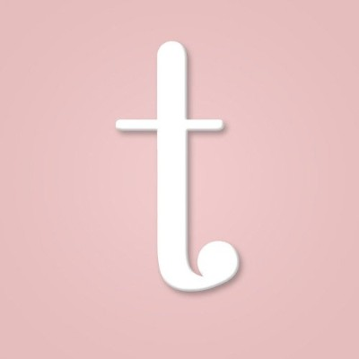 "(Letter""t"") - Wooden Wall Letter Hanging Initials Letter: T"