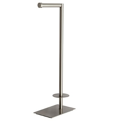 Kingston Brass CC8008 Claremont Freestanding Toilet Paper Stand & Metal Lever Handle Satin Nickel