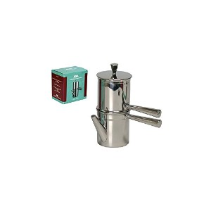 ILSA  Neapolitan Coffee Maker 6 Cup Size - Stainless Steel - Made in Italy