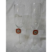 結婚披露宴パーティーFireman消防士Toasting Glasses Bride Groom