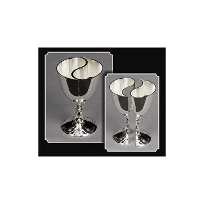 Tanday #5020 Silver Heart Shaped Engravable Wedding Toasting Goblet by MJ's Crafts & More