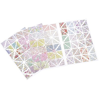 (Corner Stickers) - Floral Printing Corner Sticker Scrapbook Diary Photo Album Page Protection Decor