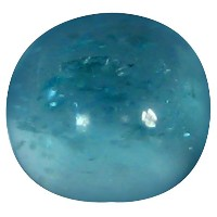 アパタイト ルーズジェームズ 1.16 ct AAA Oval Cabochon Shape (7 x 6 mm) Brazilian Paraiba Blue Apatite Gemstone