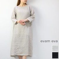 evam eva(エヴァムエヴァ) side tuck tunic 2colormade in japane181t166