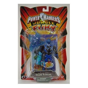 "☆春の特別企画☆エントリーで当店全品ポイント5倍!【Power Rangers Jungle Fury 5"" Action Figures - Shark Ranger】 51djZna1ckL..."