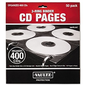 【Two-Sided CD Refill Pages for Three-Ring Binder, 50/Pack (並行輸入品)】 51T31xIzVpL