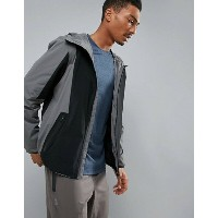 ペリーエリス メンズ ジャケット・ブルゾン アウター Perry Ellis 360 Running Challenger Jacket Packable in Gray/Black Magnet