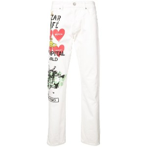 Vivienne Westwood Anglomania printed straight leg jeans - ホワイト