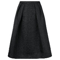 Essentiel Antwerp pleated A-line skirt - ブラック