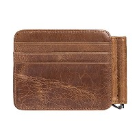 Zhhlinyuan レザー Mens Women Soft Slim First Cowhide Leather Small Credit Card Purse Money Wallet Case...