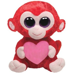 Ty Beanie Boos - Charming the Monkey With Heart 10 BUDDY by Ty Beanie Boos