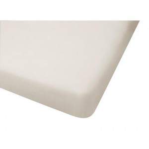 Big Oshi Jersey Knit 100% Cotton Fitted Crib Sheet, Cream by Big Oshi