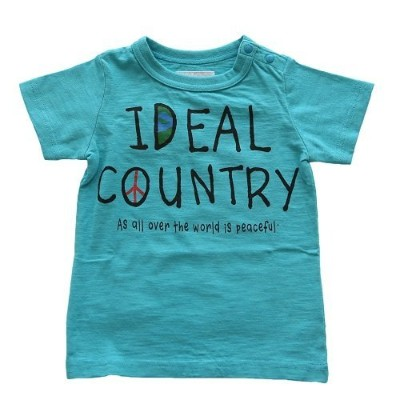 jeans b. 2nd COUNTRY T シャツ(サックス) 120cm
