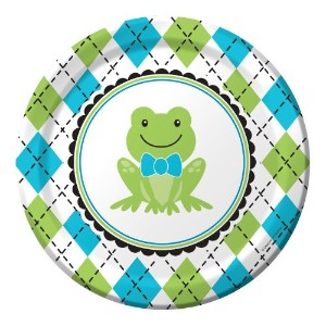 8-count Paper Dinner Plates、プレッピーFrog