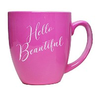 面白いコーヒーマグカップwith Sayings for Men and Women – Fun inspirational LatteギフトMug Hello Beautiful Style -...