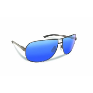 Flying Fisherman 7816GSB Highlander Polarized Sunglasses, Gunmetal Frames With Smoke-Blue Mirror Lenses
