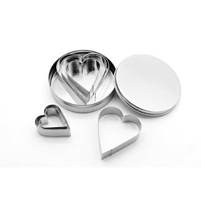 Shenghai Heart Cookie cutters-stainlessスチールクッキーカッターセットの6