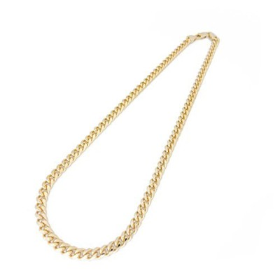 (24.0 inches) - SEJIN jewellery Gold Chain Necklace, Yellow Gold Plated Cuban Curb Link 4mm Wide...