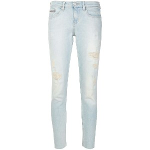 Calvin Klein Jeans distressed skinny jeans - ブルー