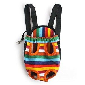 Mallofusa ?X-large Extra Large Size Colorful Stripe Pattern Pet Legs Out Front Carrier/bag by Mallofusa