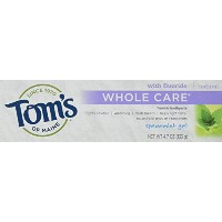 Toms of Maine Whole Care Spearmint Gel Toothpaste, 4.7 Ounce -- 6 per case. by Tom's of Maine