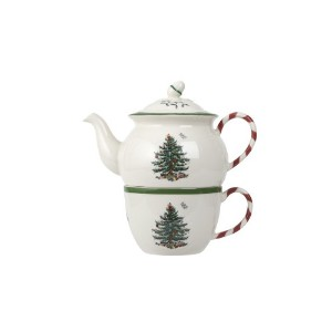 Spode Christmas Tree Peppermint Tea for One by Spode