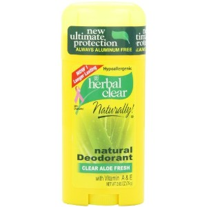 21st Century Herbal Clear Deodorant, Aloe Fresh, 2.65-Ounces (Pack of 3) by 21st Century