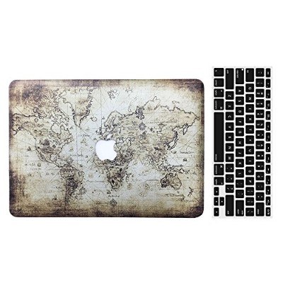 "AY0114 MacBook ケース + キーボードカバー  Old 13"" Pro With CD-ROM (A1278) VA0057-13Pro-Ancient Map"
