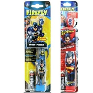 Firefly Batman and Superman Power Toothbrush 2 pack by Firefly
