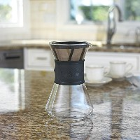 Cafe Brew pour Over Coffee Maker with Permanent BPAフリー# 4コーヒーフィルタ/コーヒーdripper- Heat Resistant...