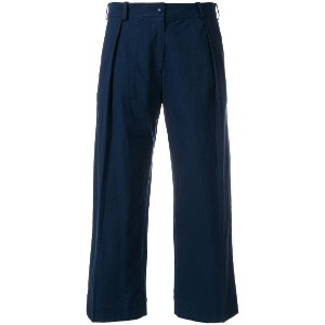 Peter Jensen pleat front trousers - ブルー