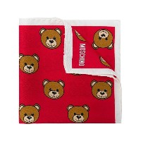 Moschino toy bear scarf - レッド