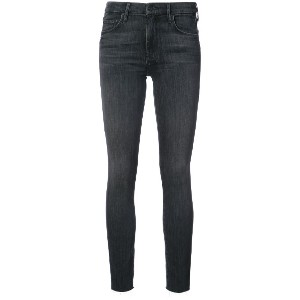 Mother frayed skinny jeans - グレー