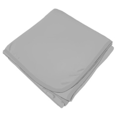 SheetWorld Soft & Stretchy Swaddle Blanket - Silver Grey - Made In USA by sheetworld