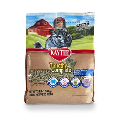 Kaytee Timothy Complete Chinchilla Diet Food, 3-Pound by Kaytee