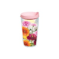 Tervis ChrysanthemumsラップBottle withピンク蓋、473ml、ガーデンパーティーby Tervis