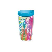 Tervis Palm Tree Wrapボトルターコイズ蓋、473ml、Beverage