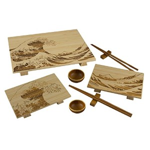 Totally Bamboo 9個入り寿司Wave Serving Set – ライト