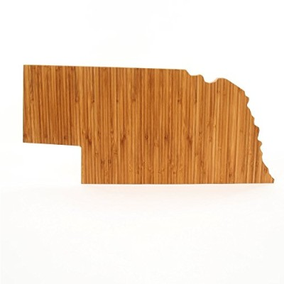 (Nebraska) - Cutting Board Company Nebraska Shaped Cutting Board, Bamboo Cheese Board