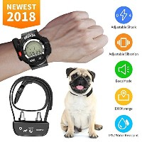 KKUP2U Dog Training Collar, Rechargeable and Waterproof Beep/Vibration/Shock Electric Collar for...