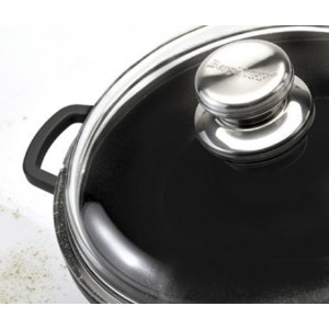 "Eurocast Professional調理器具ガラス蓋。oven proof Pyrex Lids with特許取得済み3 Dimpleリップfor steaming、ドレン、と排気 10""..."