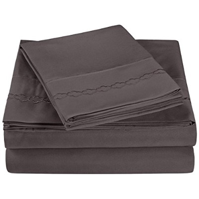 (Twin, Charcoal) - Super Soft Light Weight, 100% Brushed Microfiber, Twin, Wrinkle Resistant, 3...