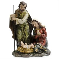 "8 "" Holy Family with Baby Jesus、メアリーとJoseph Nativity Scene Figurine"