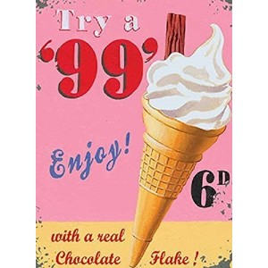 """Try a 99Iceクリーム小さなスチールSign 8"""" x 6"""" ( og )"""